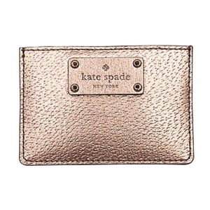 Kate Spade NY Leather Credit Card Case Wallet